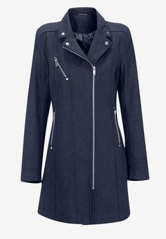 Taylor Zip Coat by ellos®, NAVY