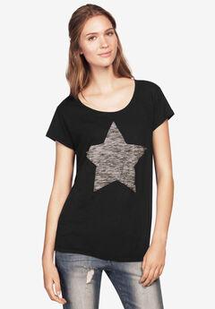 Love Ellos Tee by ellos®, BLACK STARS