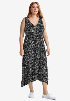 Fit & Flare V-Neck Dress by ellos®,