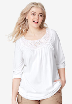 Crochet Trim Tunic by ellos®,