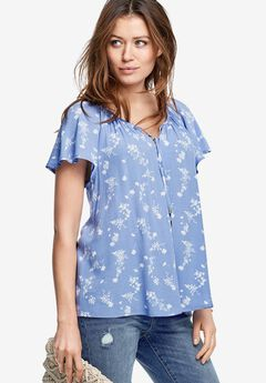 Flutter Sleeve Tunic by ellos®,