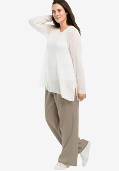 Linen Blend Wide Leg Pants by ellos®,