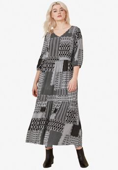 8c9524f4bf1 Printed Tiered Maxi Dress by ellos®