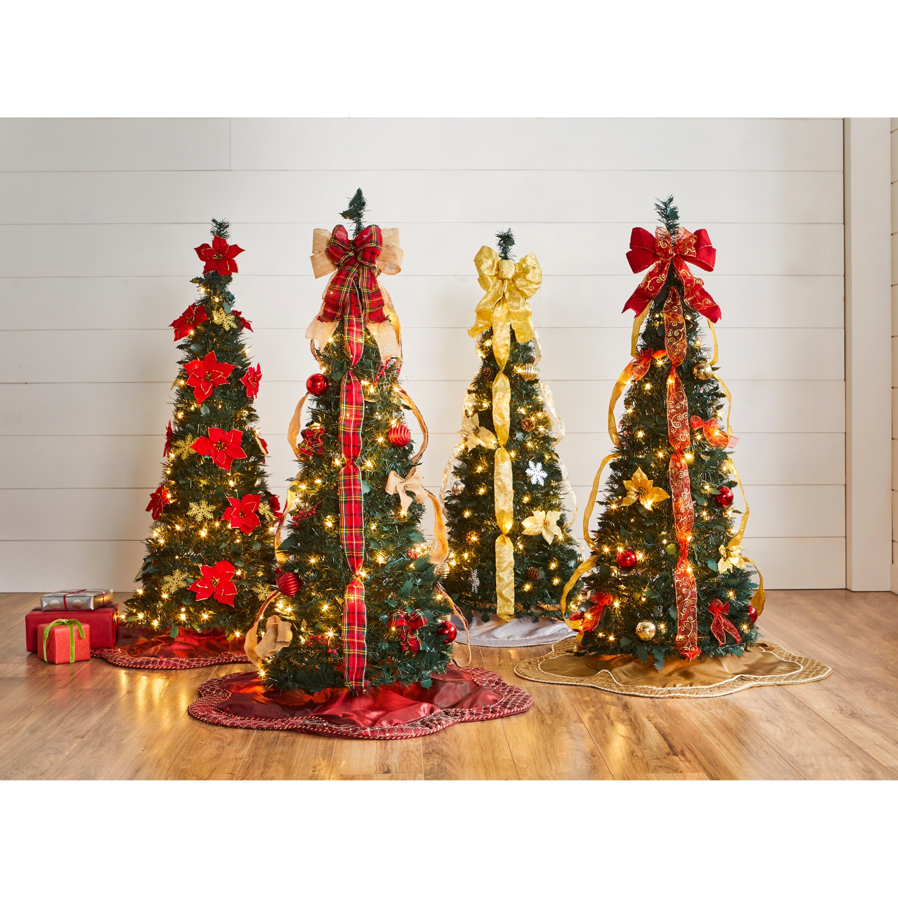 Fully Decorated Pre-Lit 4½' Pop-Up Christmas Tree | Plus ...