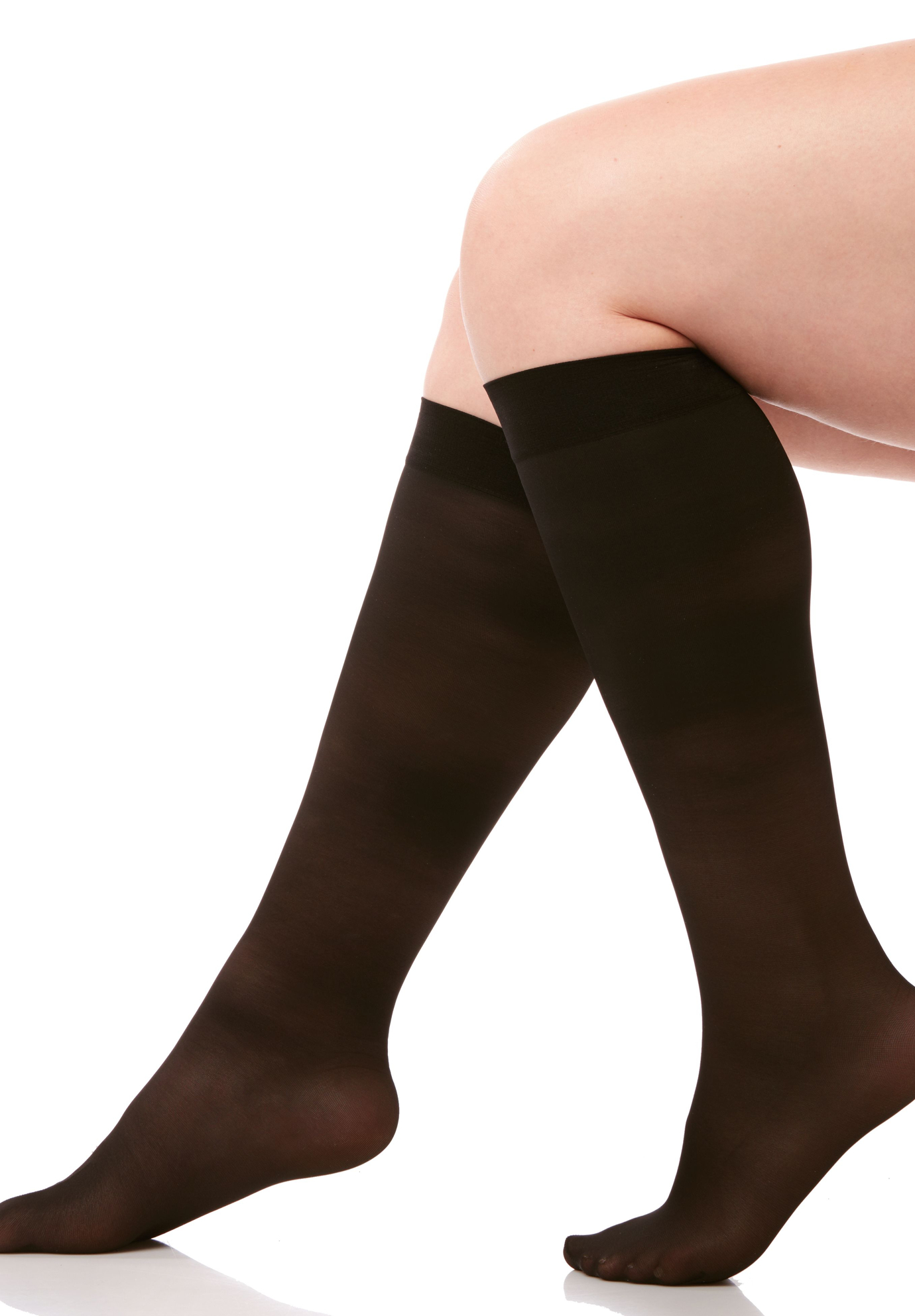 Light Control Graduated Compression Sheer Trouser Socks,
