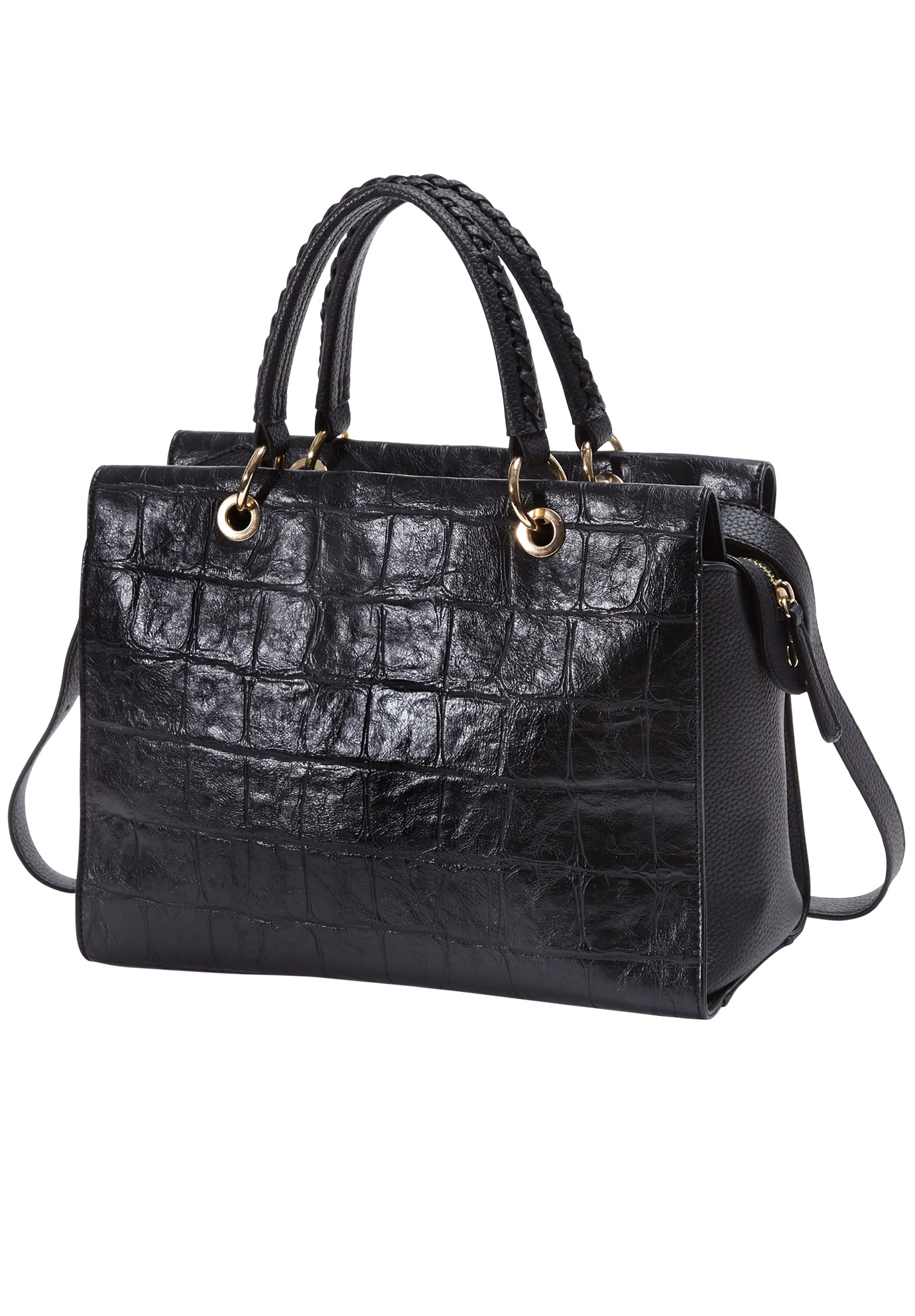 Croco Bag, BLACK
