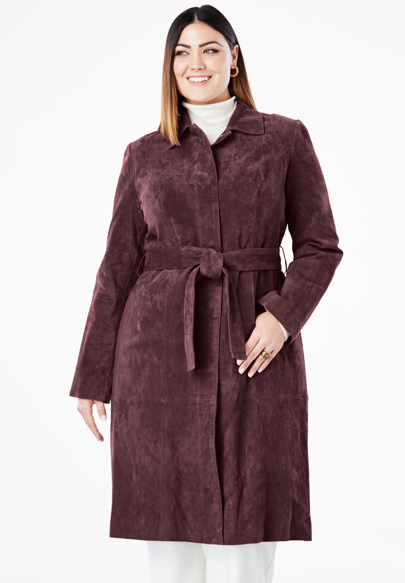 Suede Trench Coat,