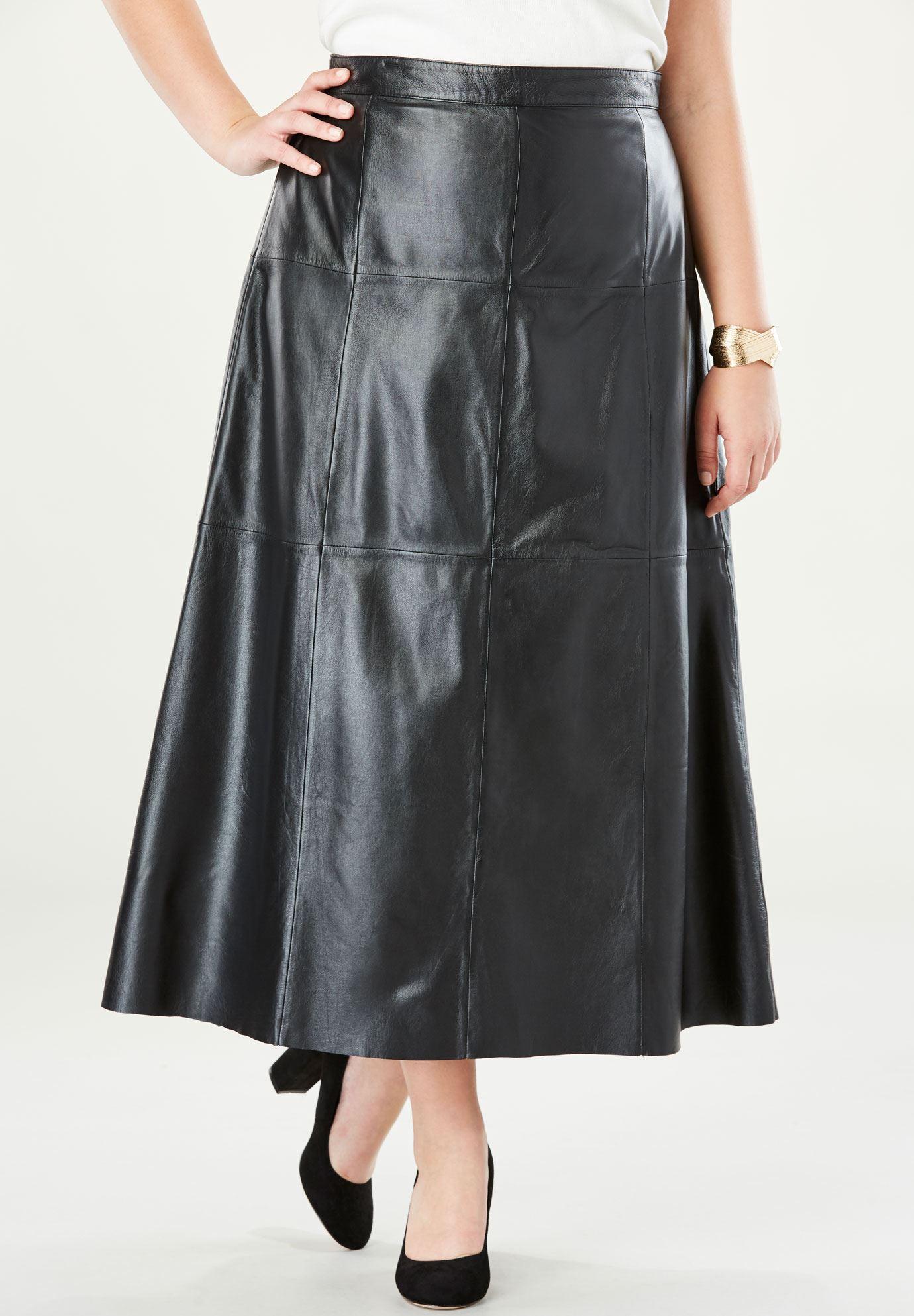 Leather Midi Skirt | Plus Size Skirts | Woman Within - photo #24