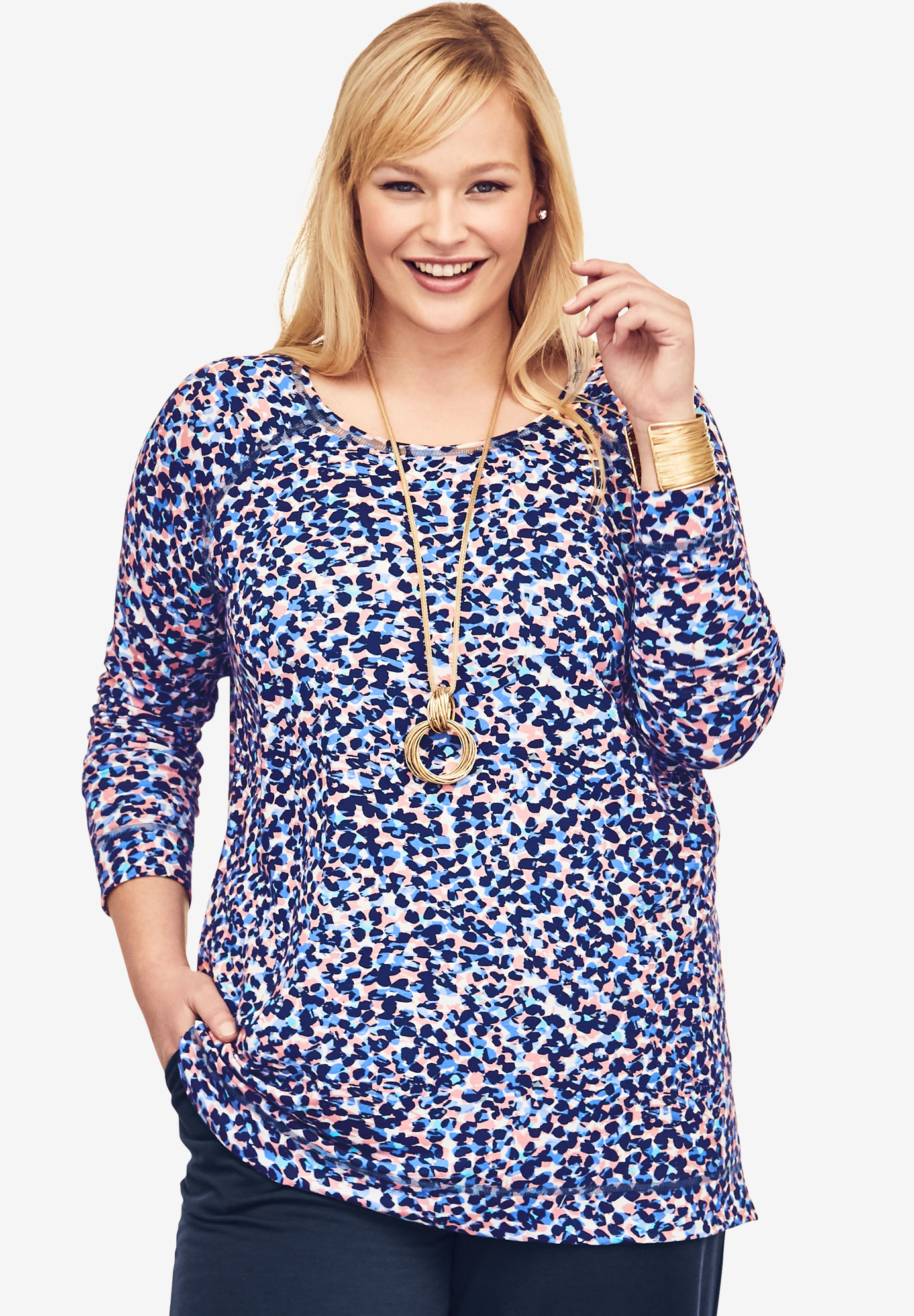 Pure Ease Printed Tunic,