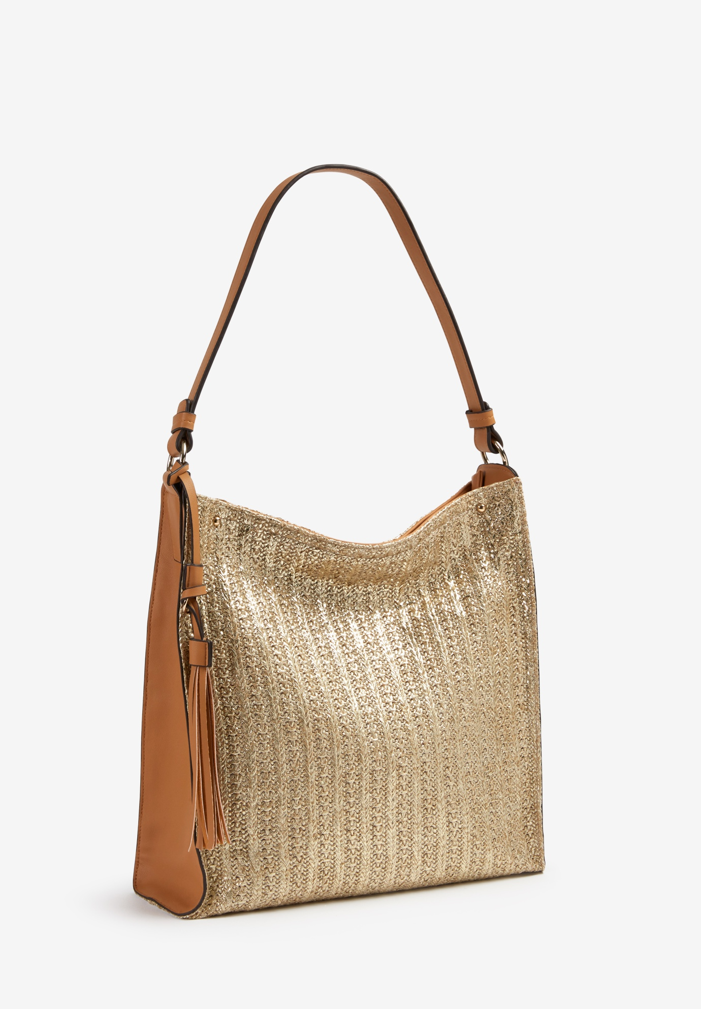 Hobo Glitter Bag, NATURAL