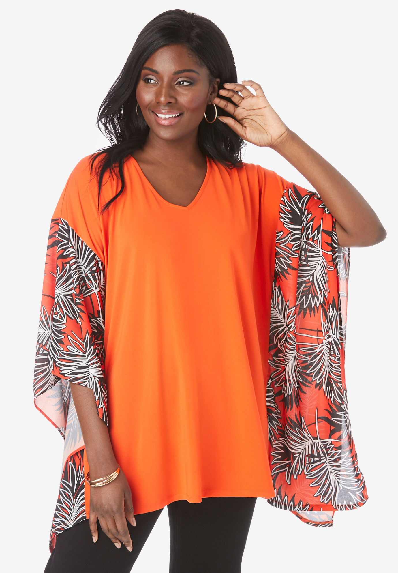 Scarf Sleeve Tunic,