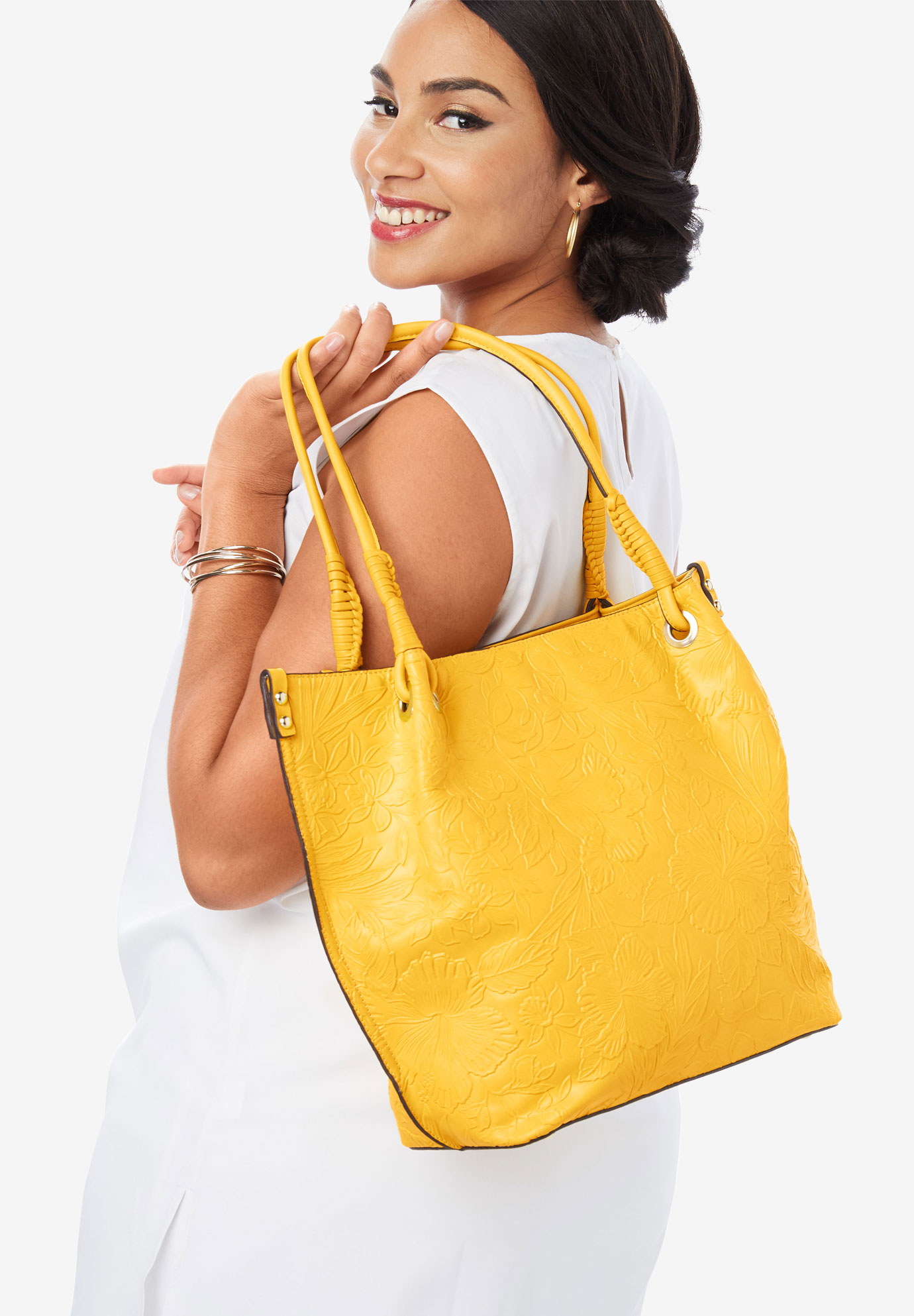 Embossed Tote,