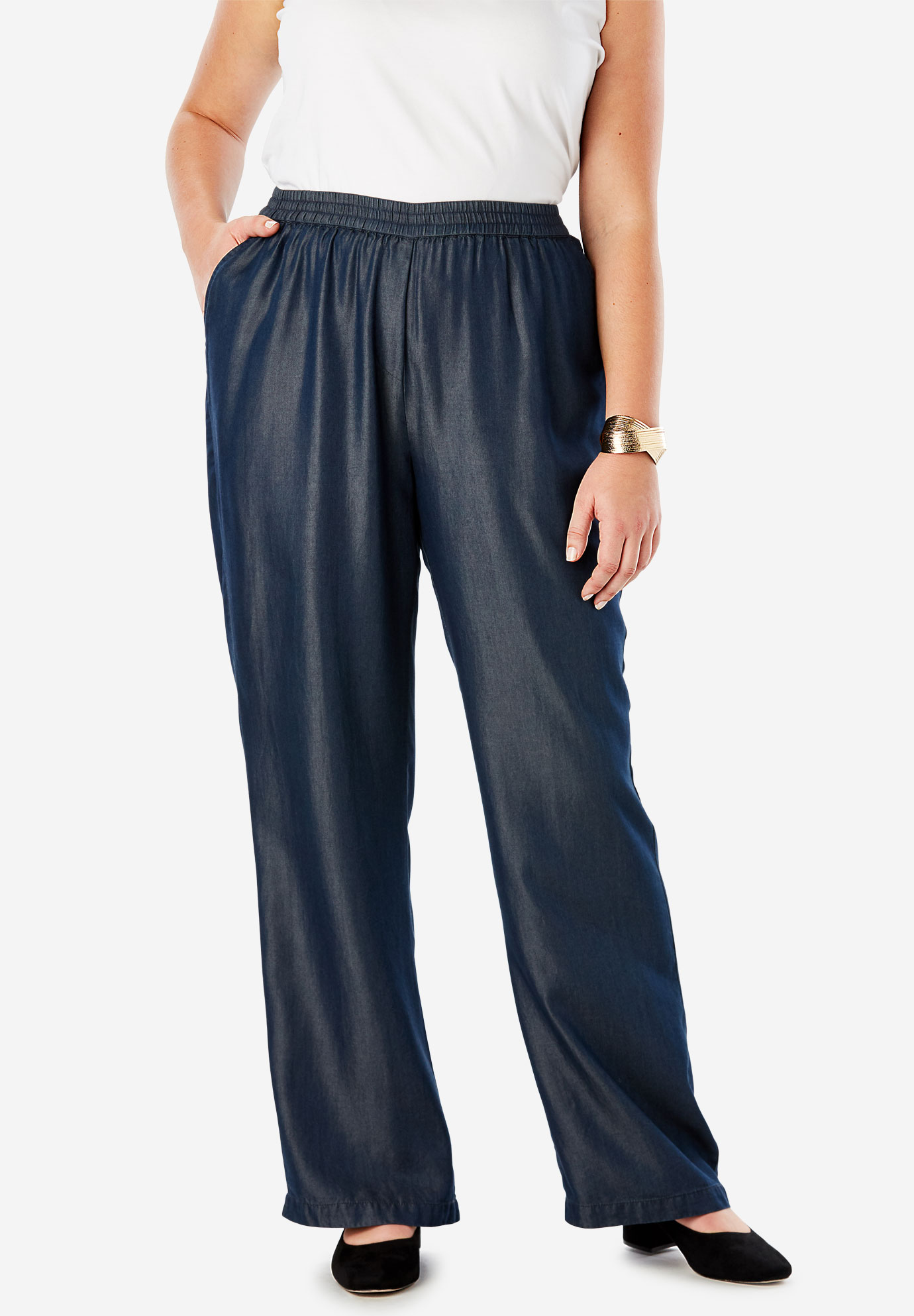Tencel® Wide-Leg Pant,