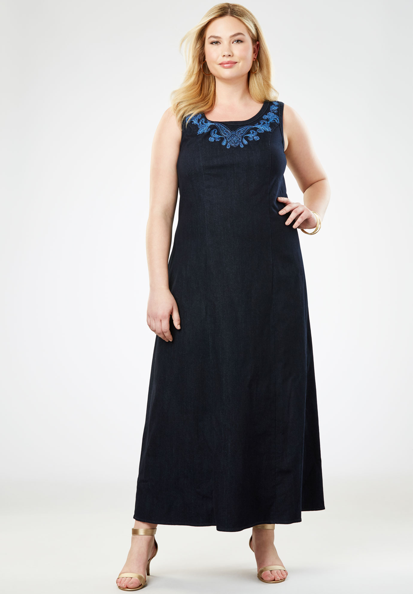 617b2502eb59 Denim Maxi Dress| Plus Size Maxi Dresses | Woman Within
