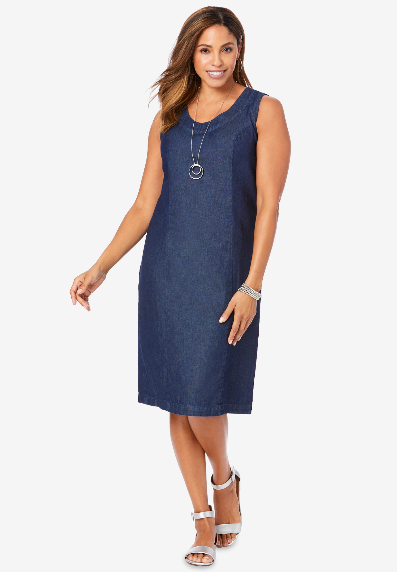 Cotton Denim Sheath,