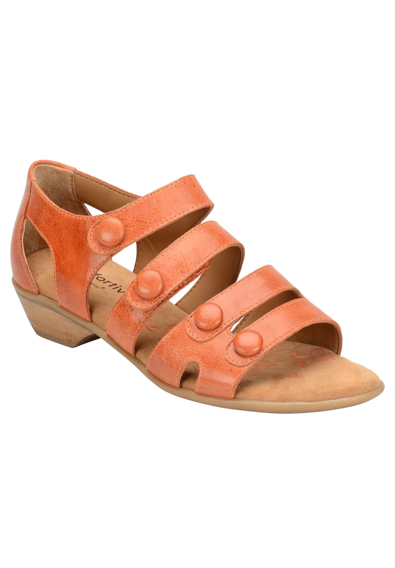 Reading Sandals by Comfortiva®, POPPY ORANGE, hi-res