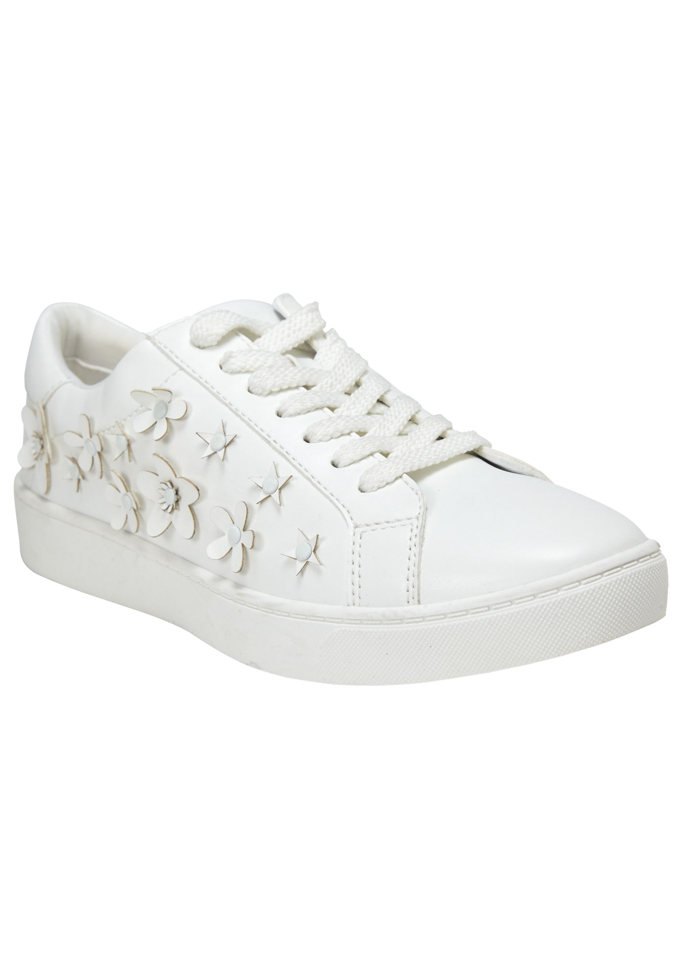 Hallie Sneakers by Comfortview®, WHITE, hi-res