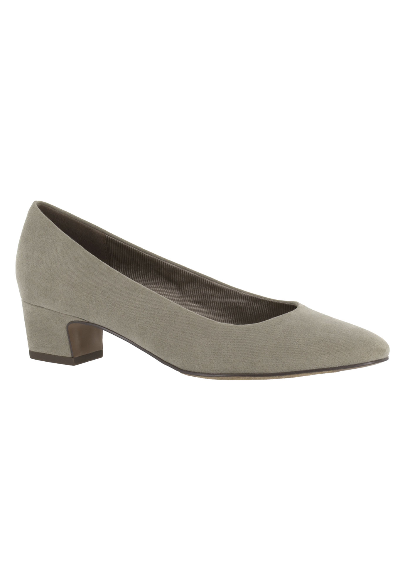Prim Pump by Easy Street®, STONE SUPER SUEDE, hi-res