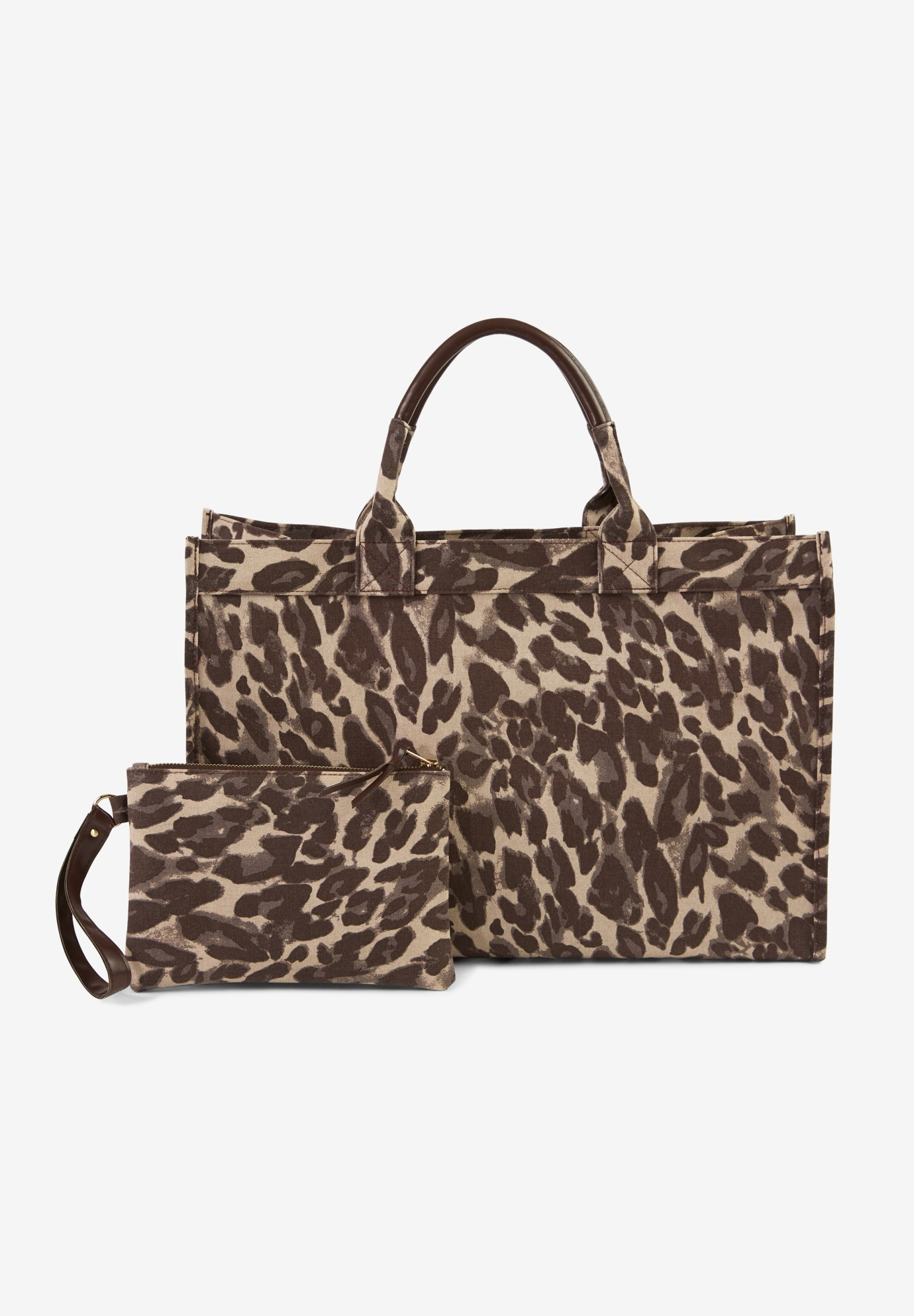 Two-Piece Tote Bag, NATURAL CHEETAH