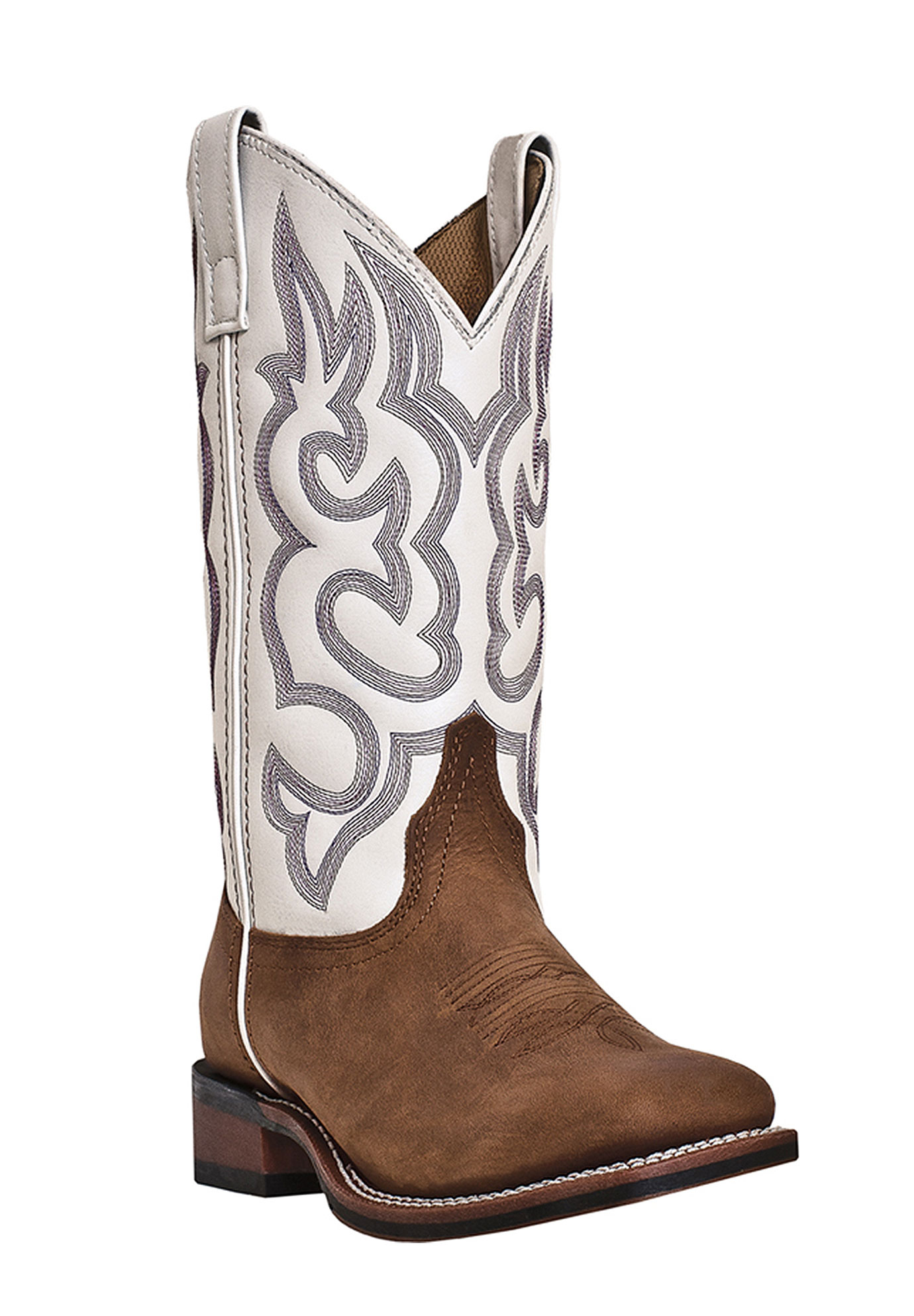Mesquite Wide Calf Boots by Laredo, TAUPE WHITE, hi-res