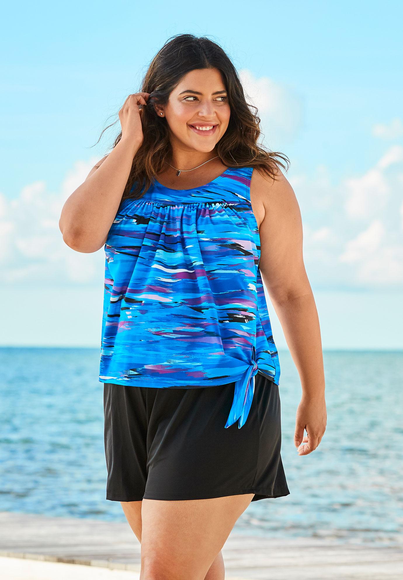 2-Piece Blouson Set | Plus Size Two Piece Swimsuits ...