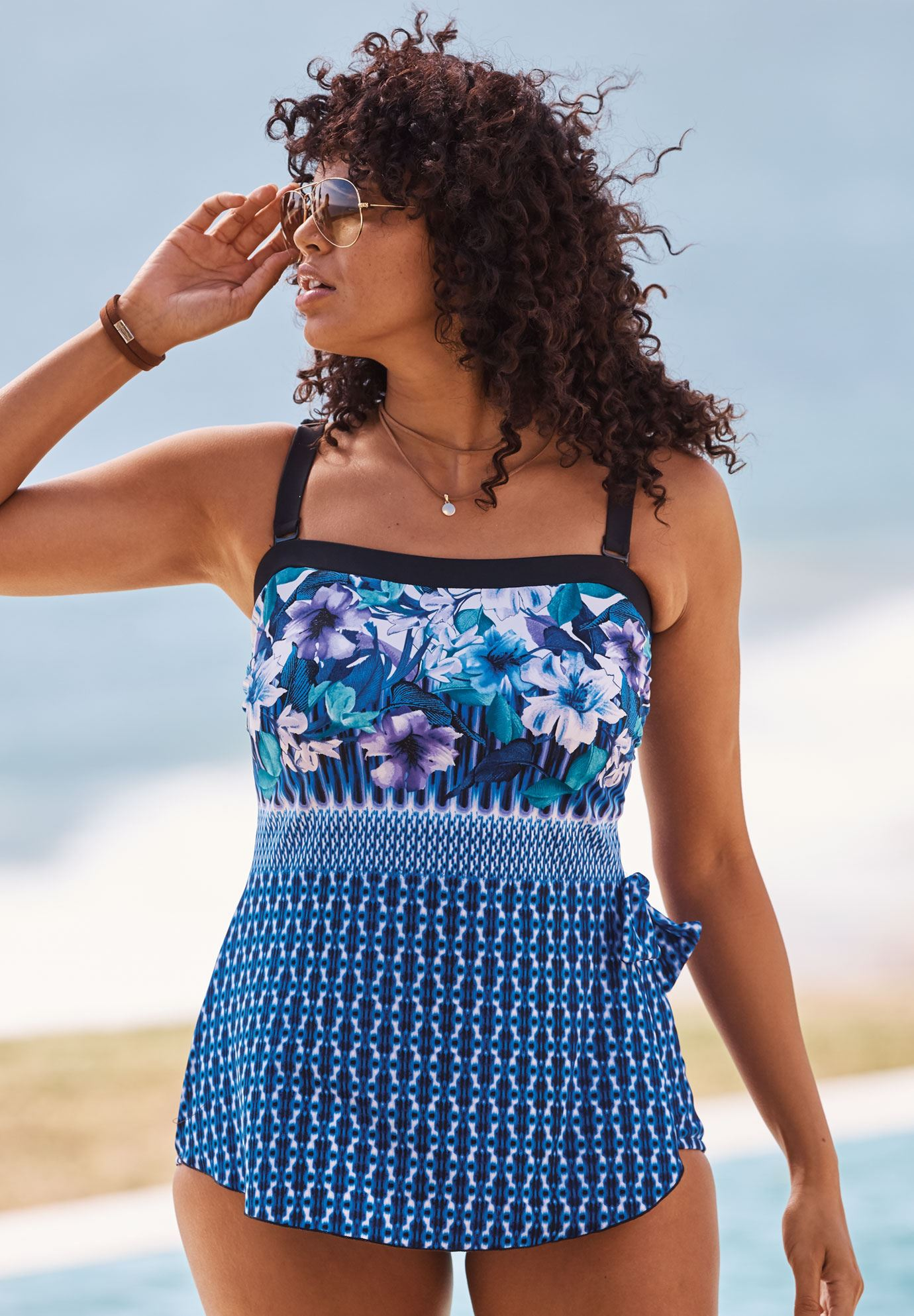 Bandeau Sarong One-Piece by Maxine of Hollywood| Plus Size ...