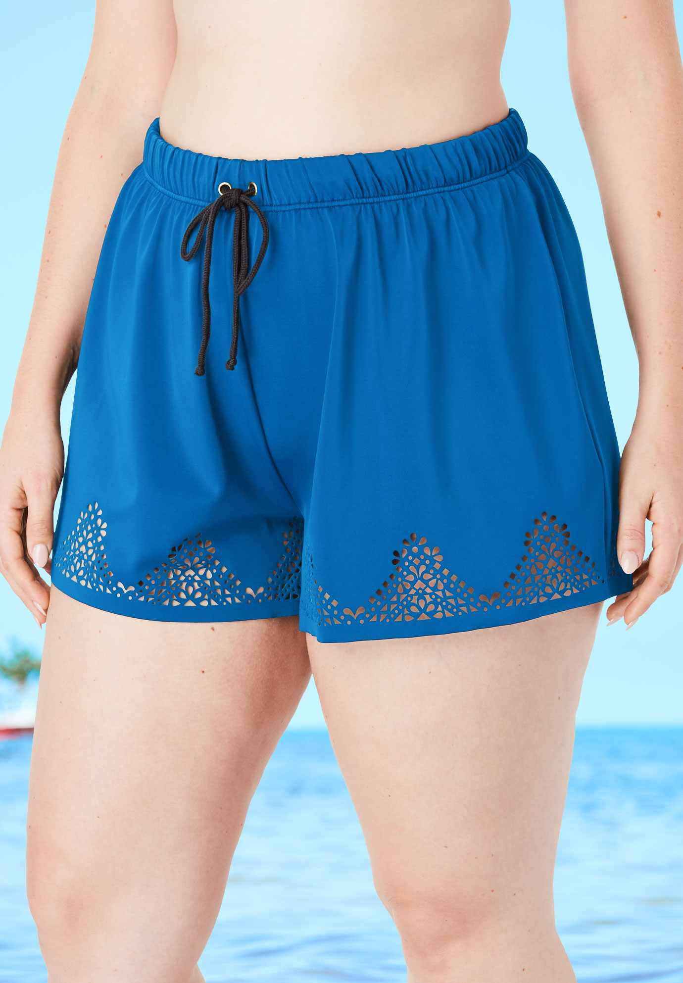 Laser-Cut Swim Short,