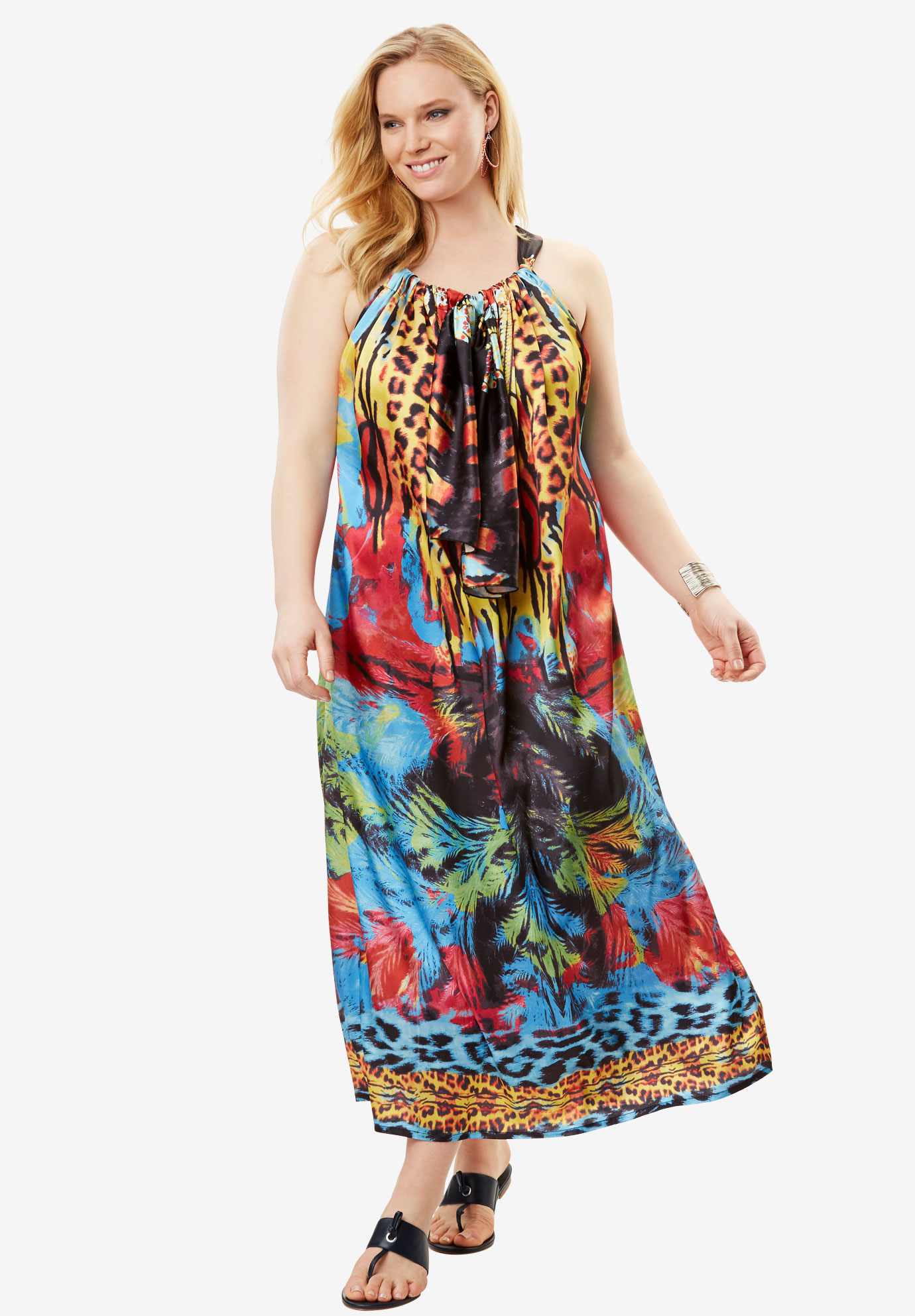 Long Caftan Coverup,