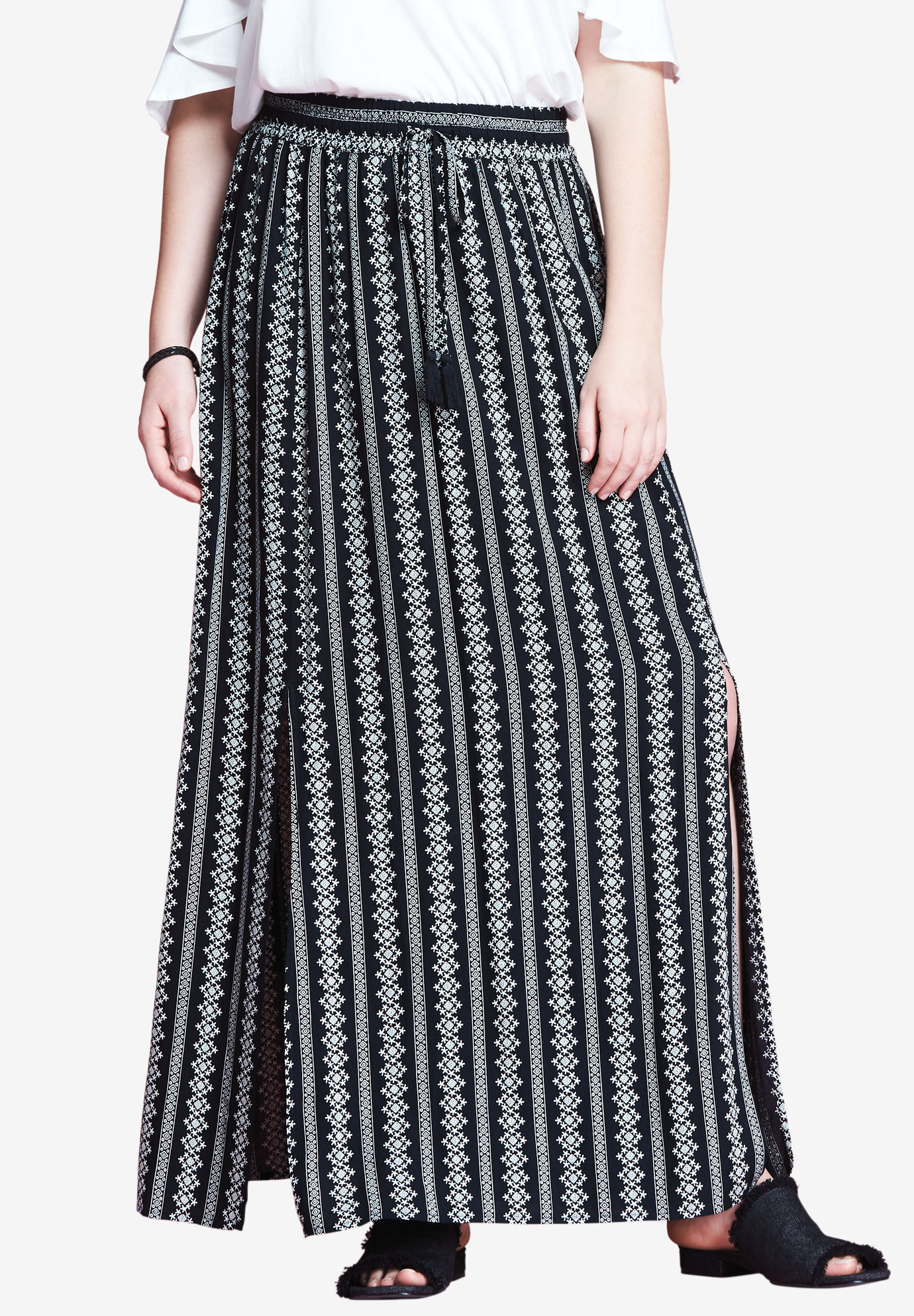Slit Maxi Skirt by Chelsea Studio®,