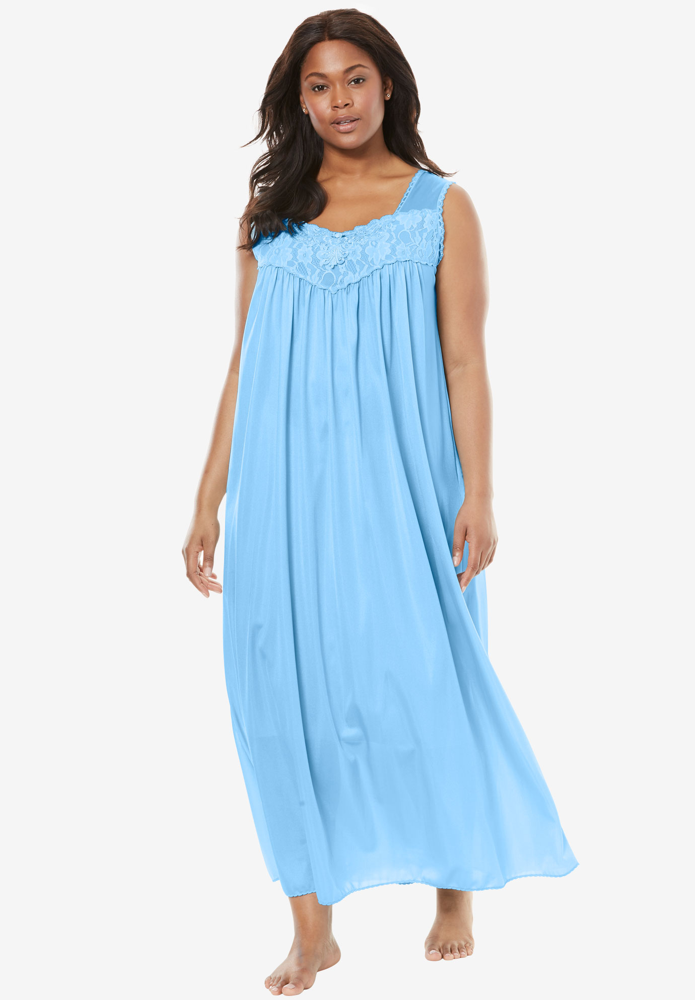 b0c2d7926f9d Long Tricot Knit Nightgown by Only Necessities®
