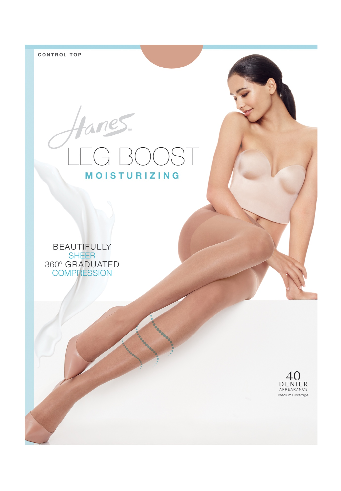 Silk Reflections Leg Boost Moisturizing Hosiery,