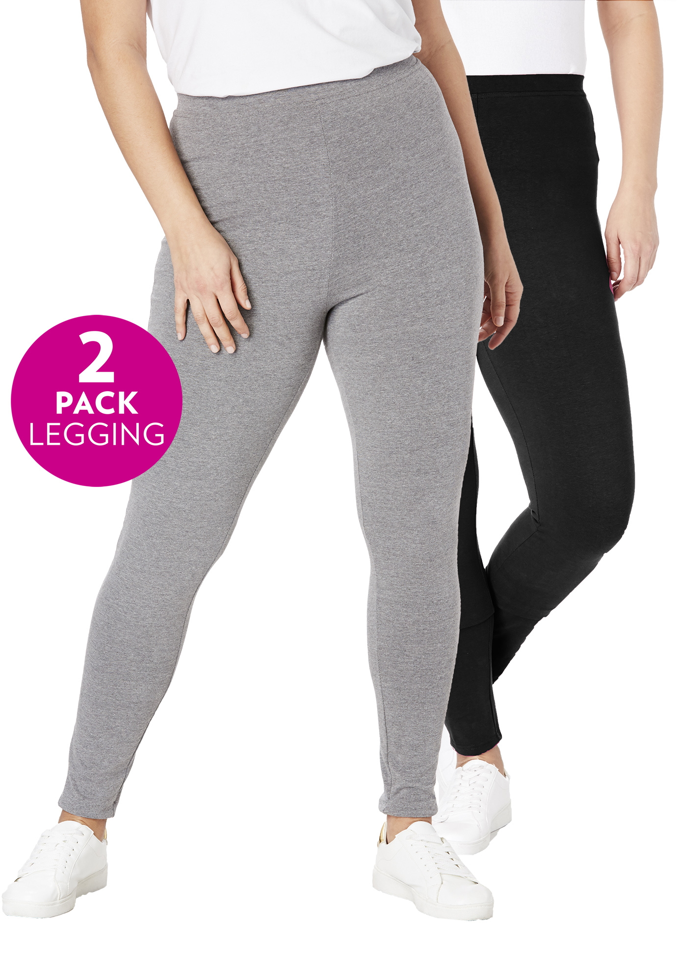 2-Pack Stretch Cotton Legging,