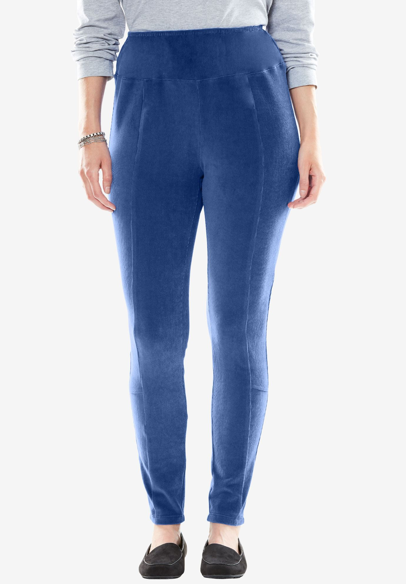 Ribbed Velour Legging,