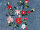 Woman Within® Pants with Convertible Length, SMALL FLOWER EMBROIDERY, swatch