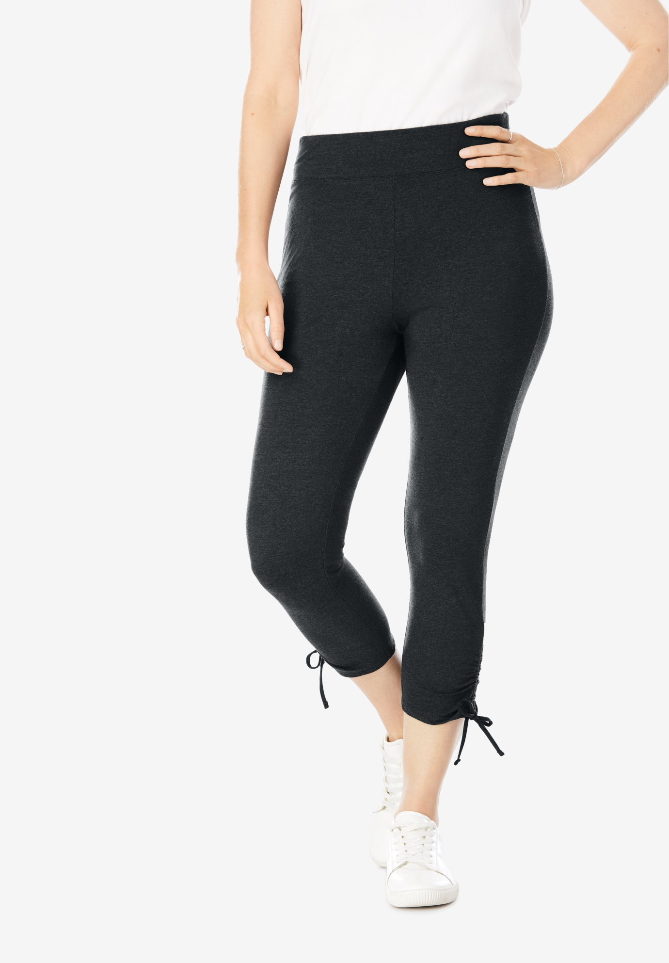 Side Cinch Capri Legging,