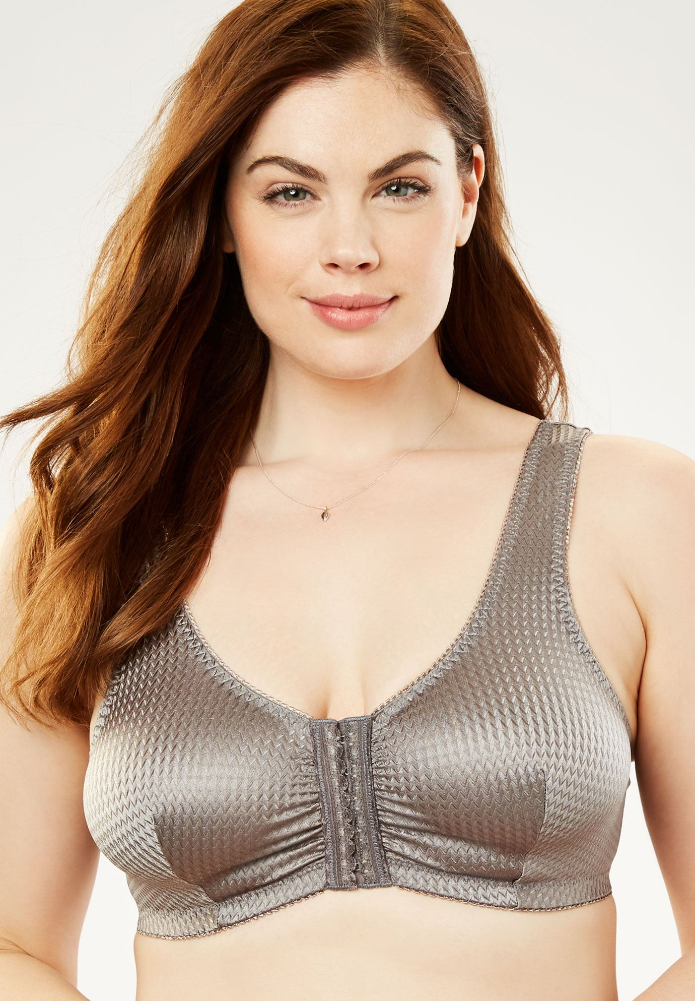 Front Hook Wireless Leisure Bra by Leading Lady®,