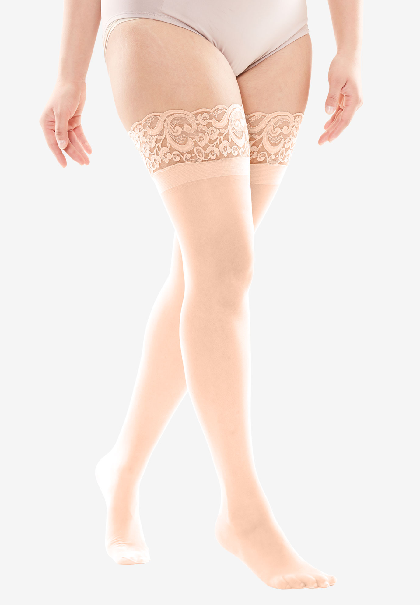 Lace Thigh-High Hosiery,