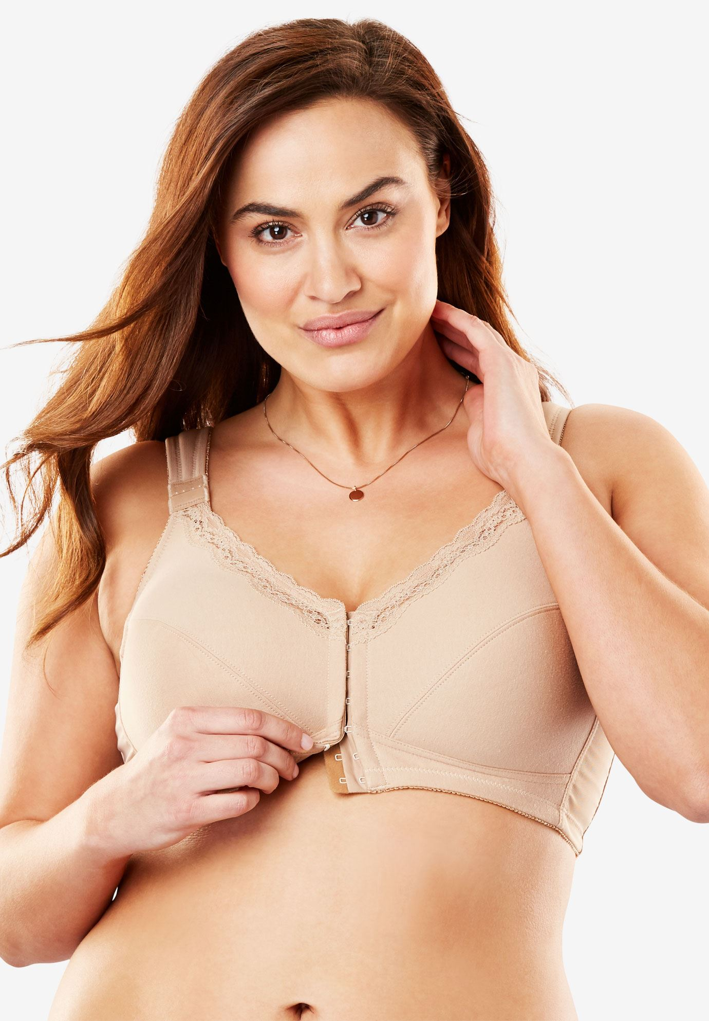 Front-Hook Cotton Posture Bra by Comfort Choice®,