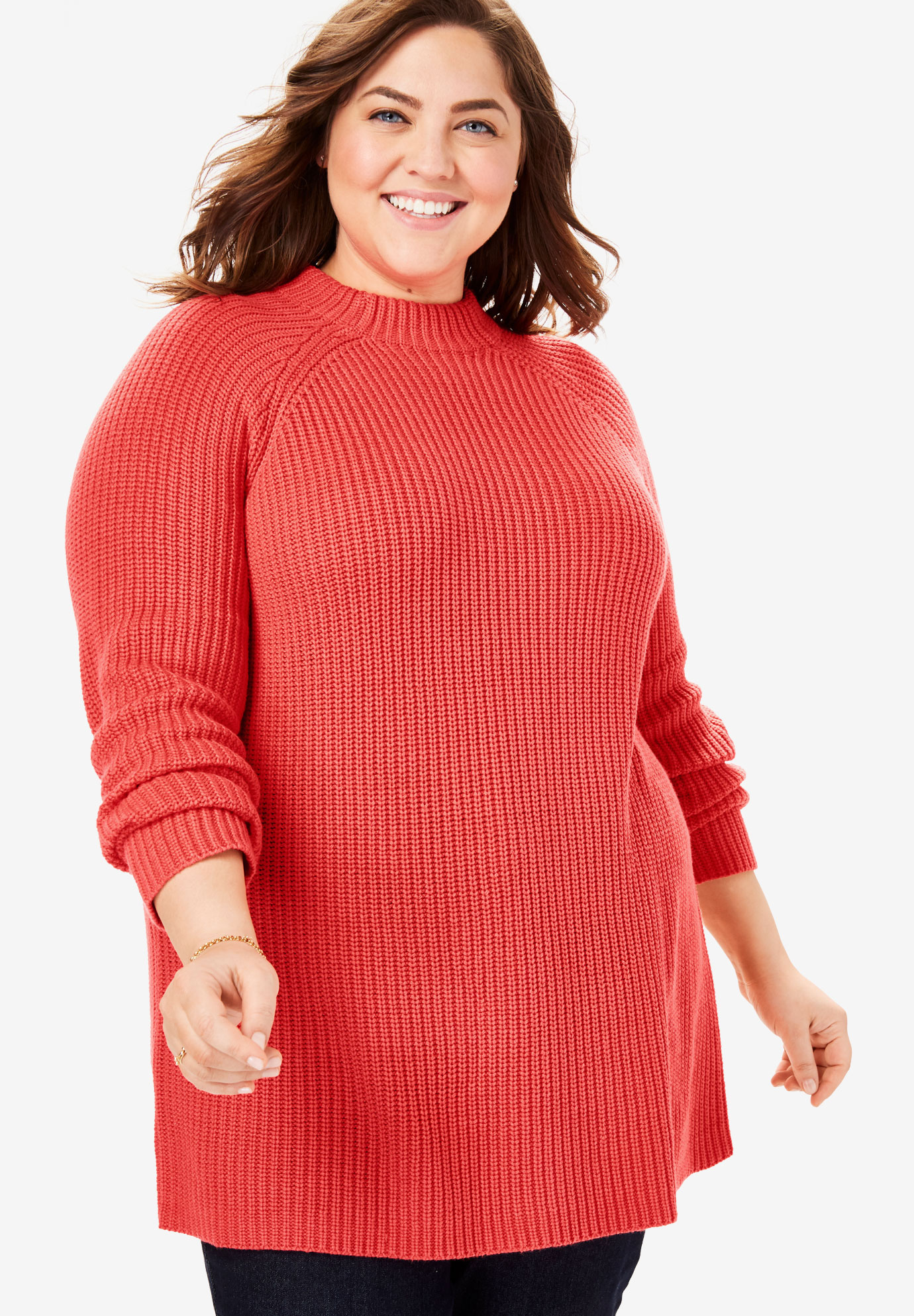 Mock Neck Shaker Sweater,