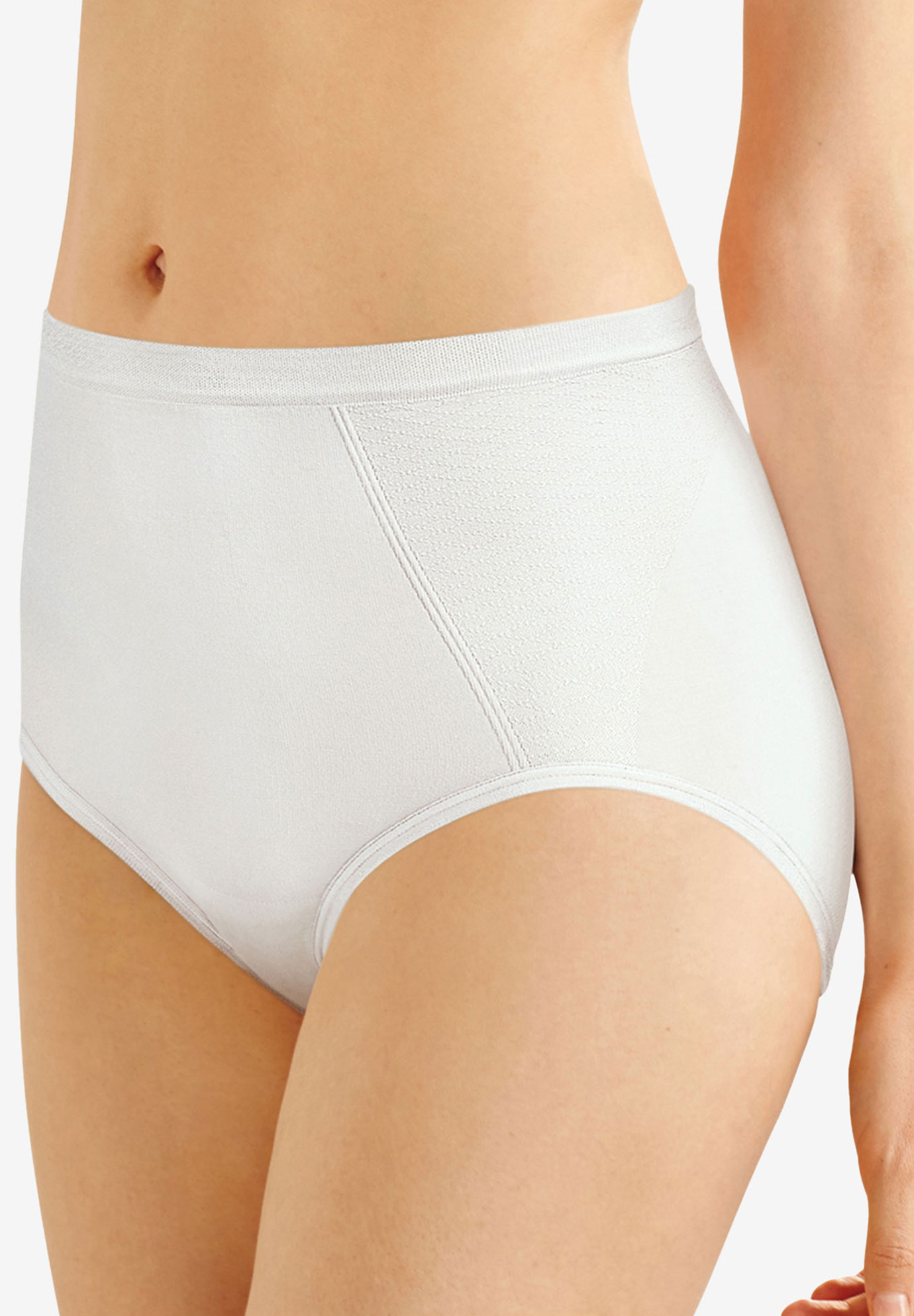 Seamless, extra-firm control shaping brief 2 pack by Bali®, WHITE, hi-res
