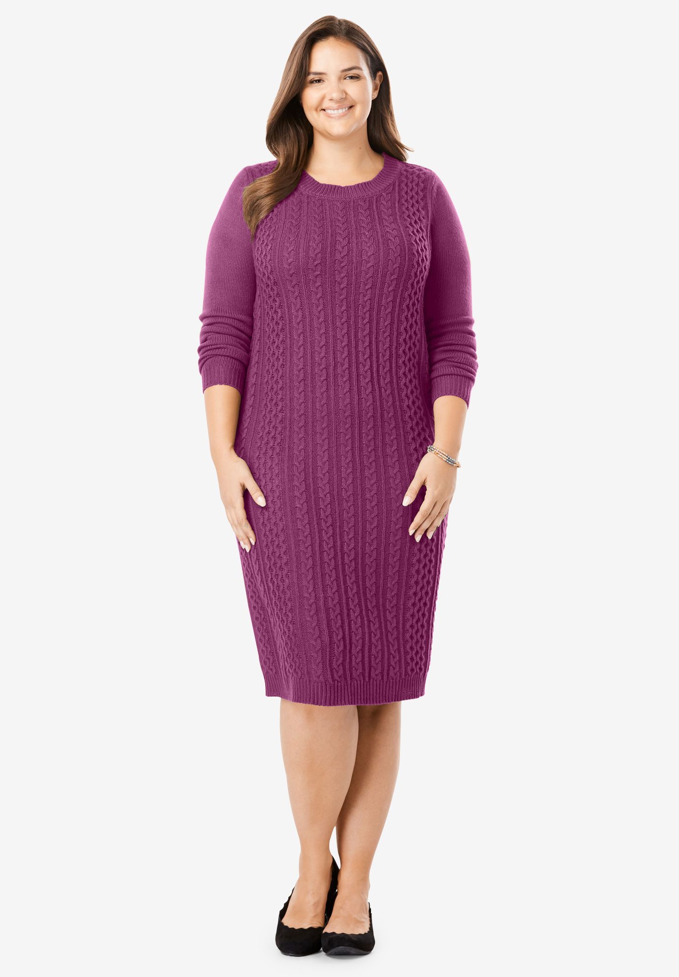 Cableknit Sweaterdress,