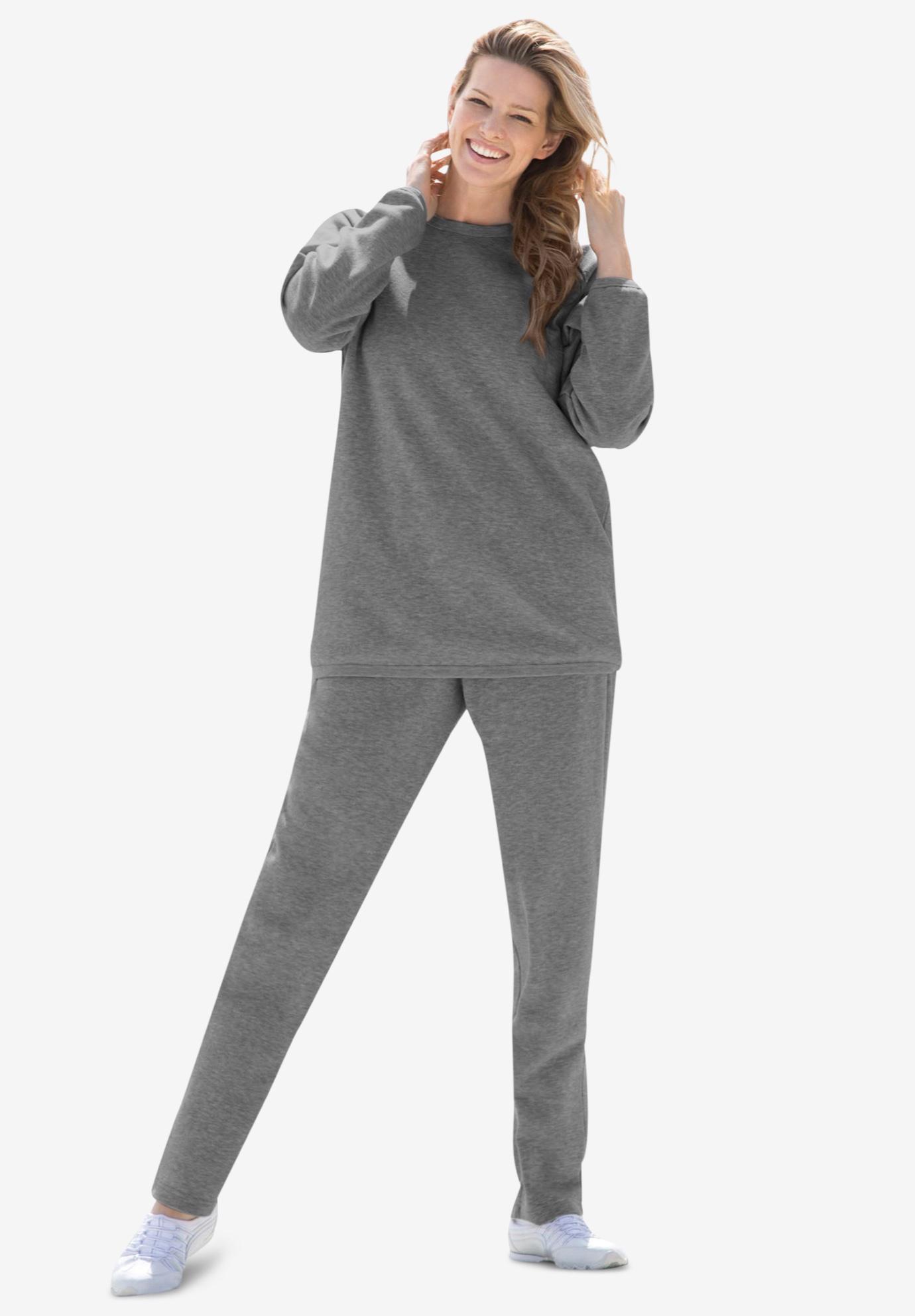 Woman Within Womens Plus Size Fleece Sweatsuit
