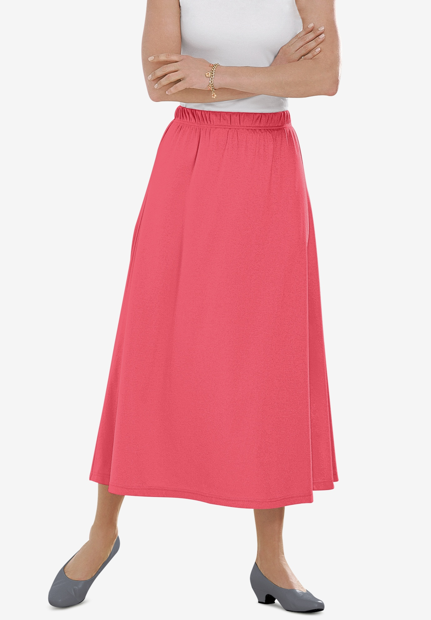 7-Day Knit A-Line Skirt,