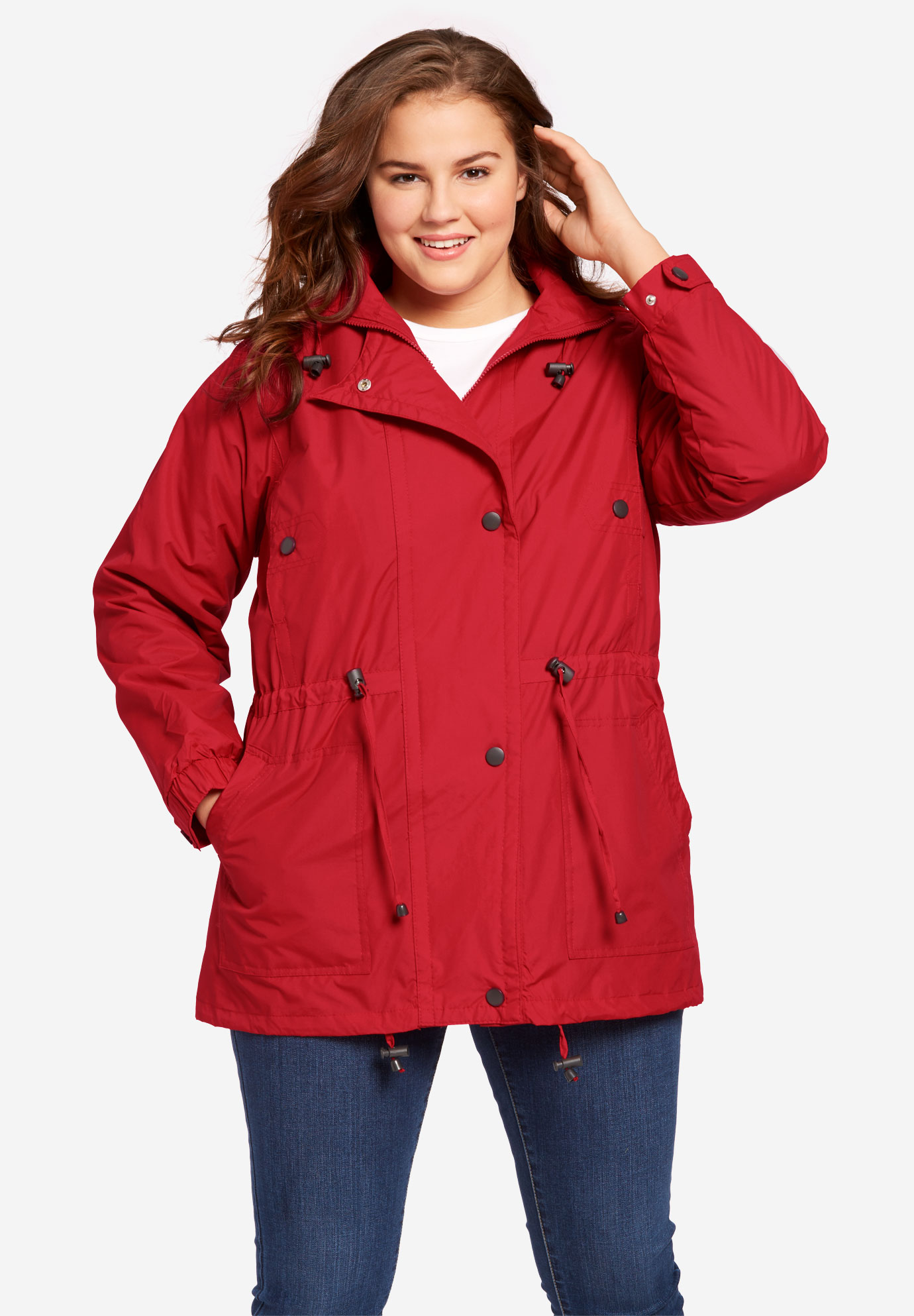 426a0b87f48 Fleece-Lined Taslon® Anorak