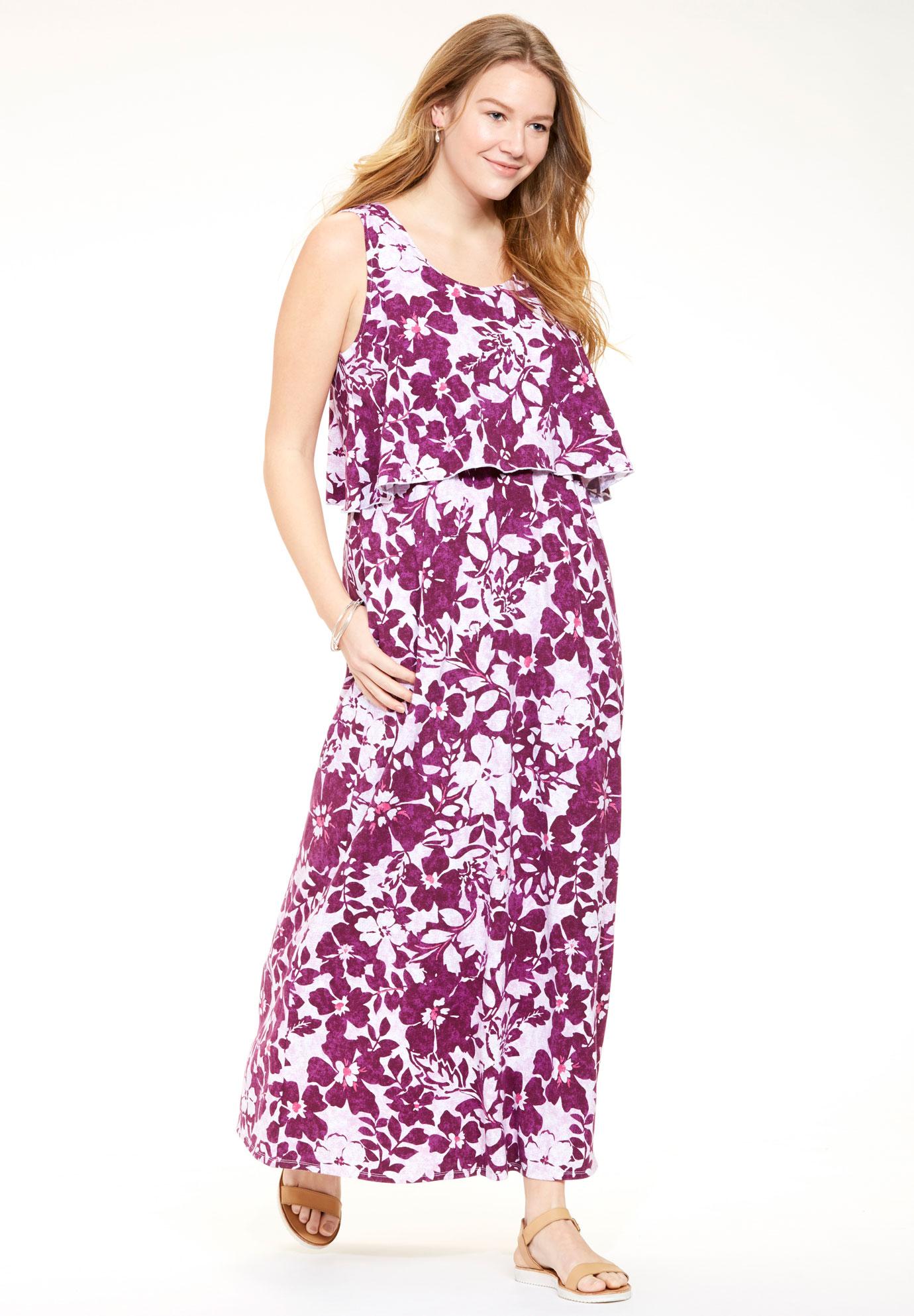Layered Popover Maxi Dress