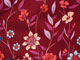 Pleat-back Mandarin blouse, RICH BURGUNDY FLORAL BORDER, swatch