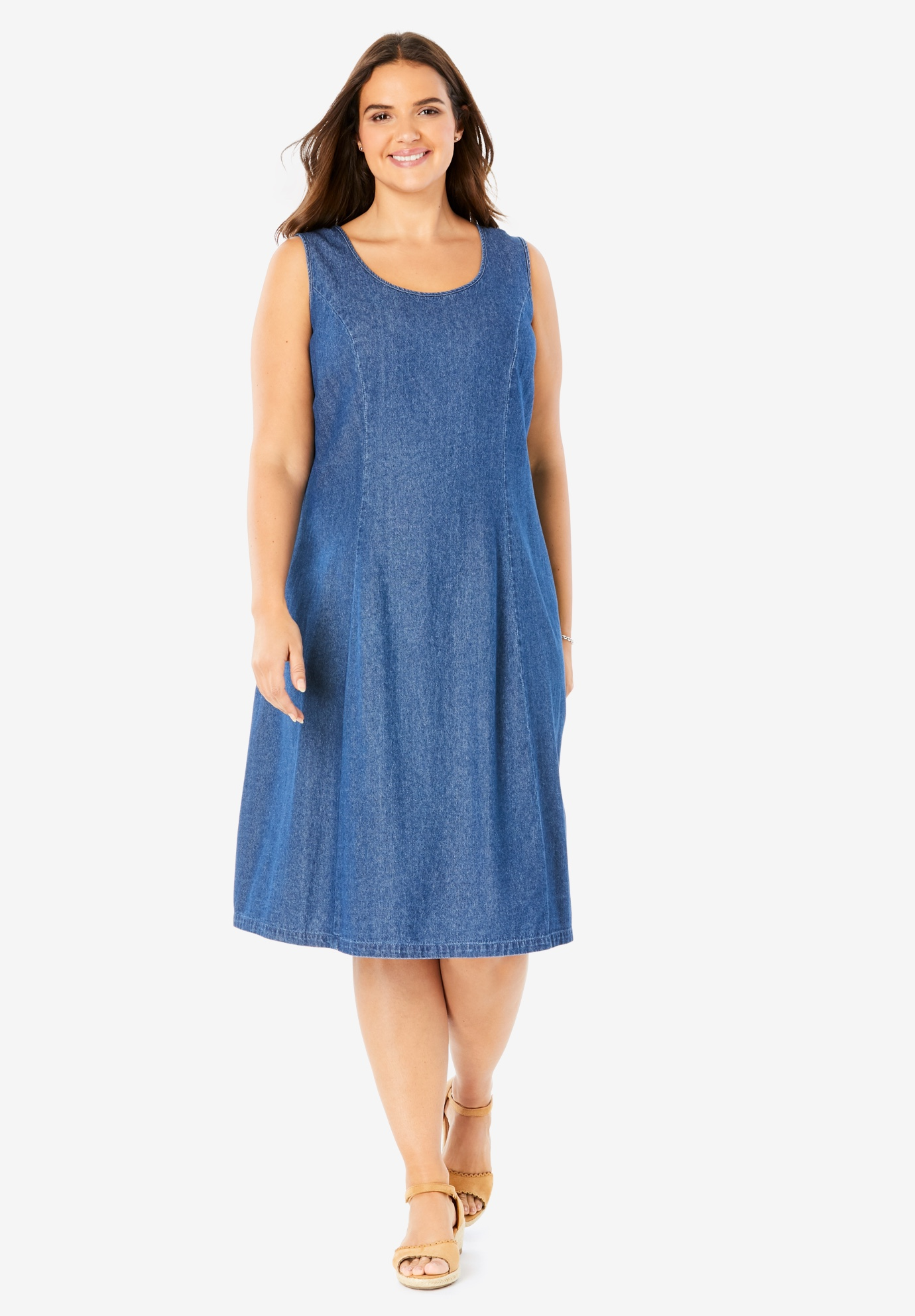 Sleeveless Denim Dress,