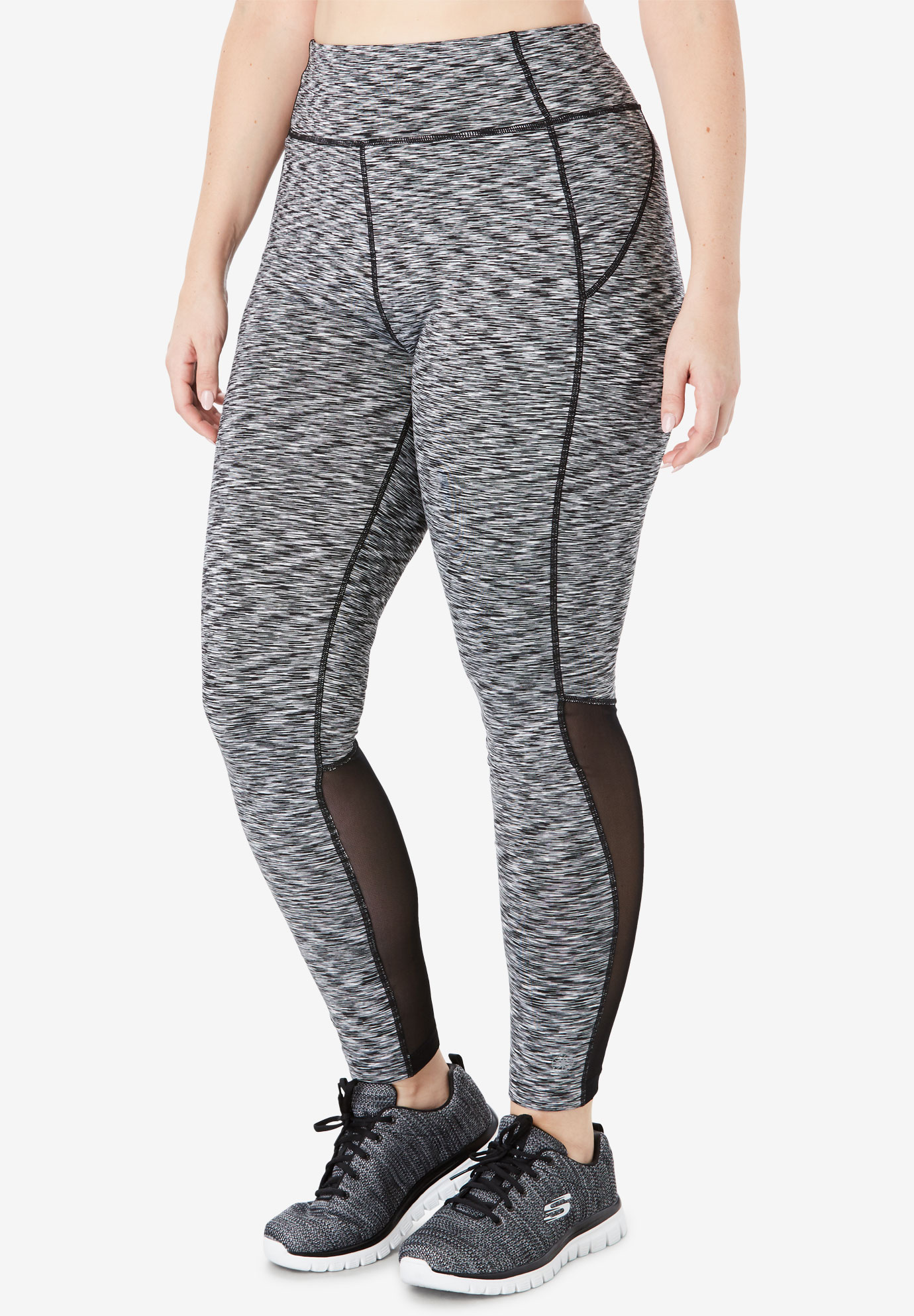 Mesh Panel Leggings by FullBeauty SPORT®,