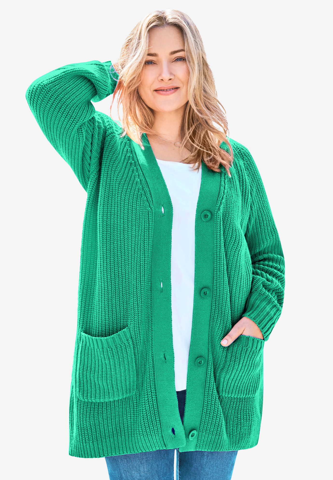 Womens Long Sleeve Knit Sweater Front Sleeve Hockey Tie Lace Up