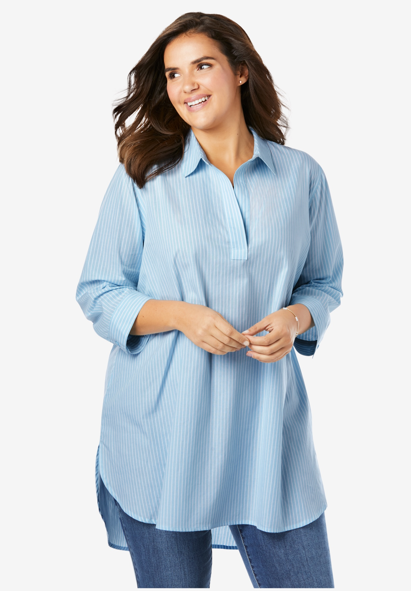 Perfect Popover Collared Shirt,